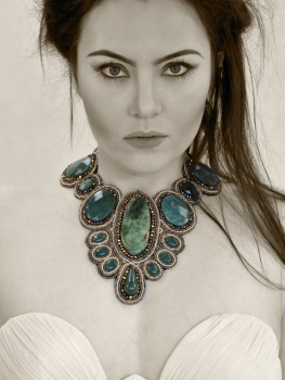 Brows & Makeup by Matt-Yuko.  Jewellery by Daniela Collection.  Model: Asha Barrett