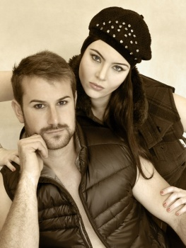 Brows & Makeup by Matt-Yuko.  Model: Asha Barrett & Lawrence Speca