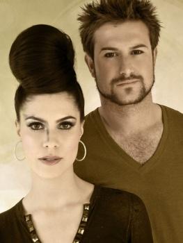 Brows & Makeup by Matt-Yuko.  Hair by Chloe Finch @ The Salon .  Model: Elana Nuozzi & Lawrence Speca
