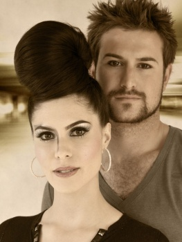 Brows & Makeup by Matt-Yuko.  Hair by Chloe Finch @ The Salon .  Model: Elana Nuozzi & Lawrence Speca