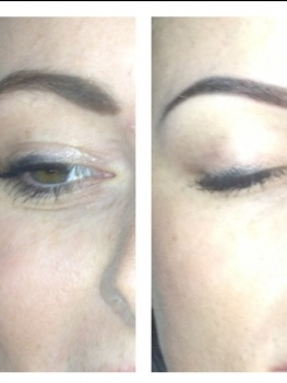 Before and after.  Brow Makeover by Matt-Yuko
